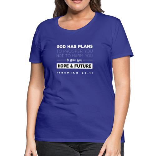 Jeremiah 29:11 shirt: Hope and future - Women's Premium T-Shirt