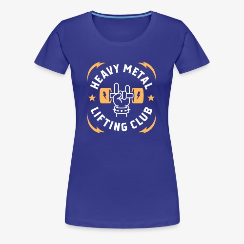 Heavy Metal Lifting Club (Yellow) - Women's Premium T-Shirt