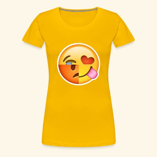 E Tees , Unique , Love , Cry, angry - Women's Premium T-Shirt
