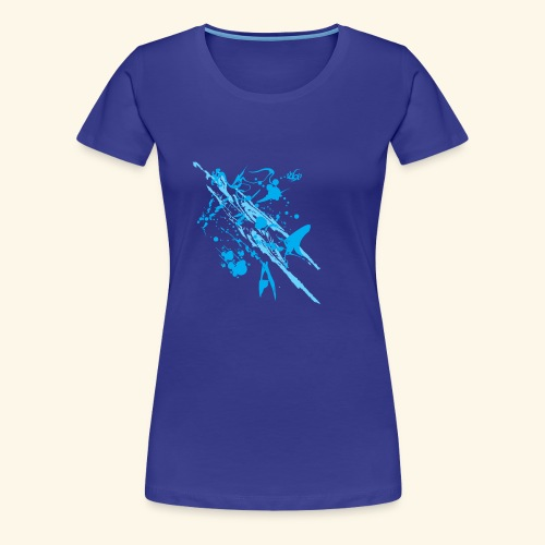 Blue Splash - Women's Premium T-Shirt