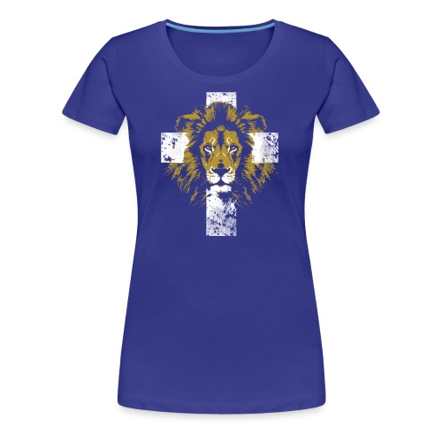 Lion of Judah Cross - Women's Premium T-Shirt