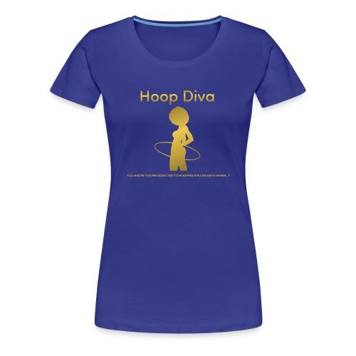 Hoop Diva - Gold - Women's Premium T-Shirt