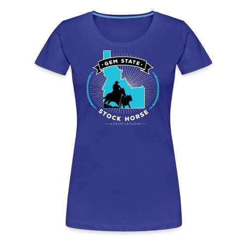 Turquose Sunburst Logo - Women's Premium T-Shirt