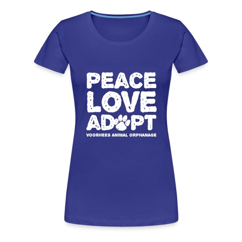 Peace Love Adopt Front png - Women's Premium T-Shirt