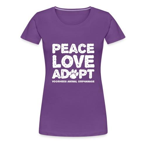 Peace Love Adopt Front png - Women's Premium T-Shirt