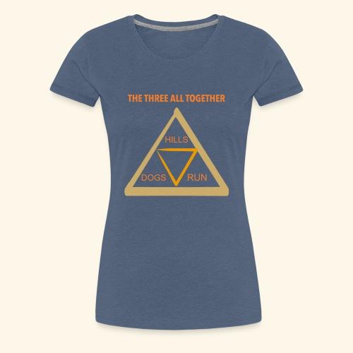 Run4Dogs Triangle - Women's Premium T-Shirt