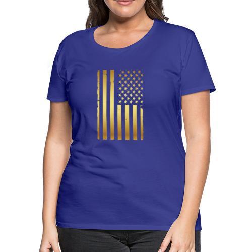 Golden american flag - Women's Premium T-Shirt