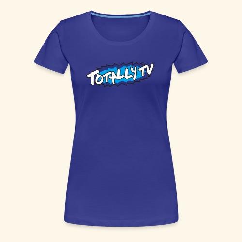 Totally TV Burst Logo Blue on Blue - Women's Premium T-Shirt