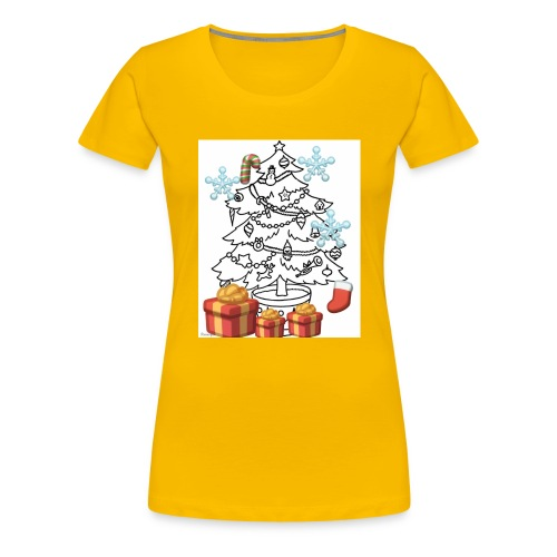 Christmas is here!! - Women's Premium T-Shirt