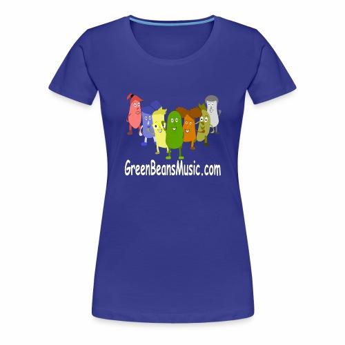 Green Bean's Music Apparel White Logo - Women's Premium T-Shirt