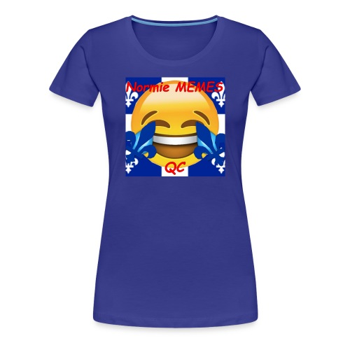 T-Shirt Normie Memes QC BLEU ROI - Women's Premium T-Shirt