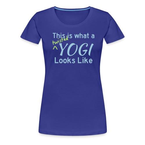 This is what a twisted yogi looks like (Women's) - Women's Premium T-Shirt