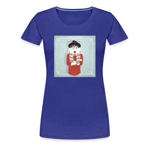 Hispter Dog - Women's Premium T-Shirt