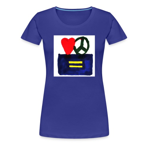 Peace, Love and Equality - Women's Premium T-Shirt