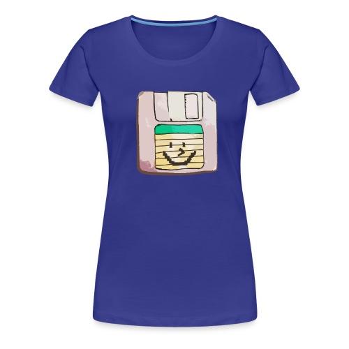 smiley floppy disk - Women's Premium T-Shirt
