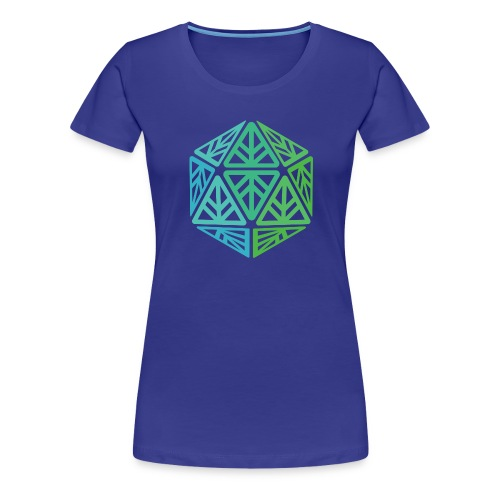 Green Leaf Geek Iconic Logo - Women's Premium T-Shirt