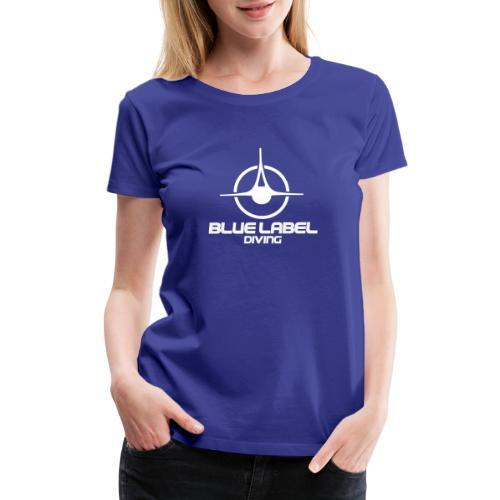 BLD logo with text white - Women's Premium T-Shirt