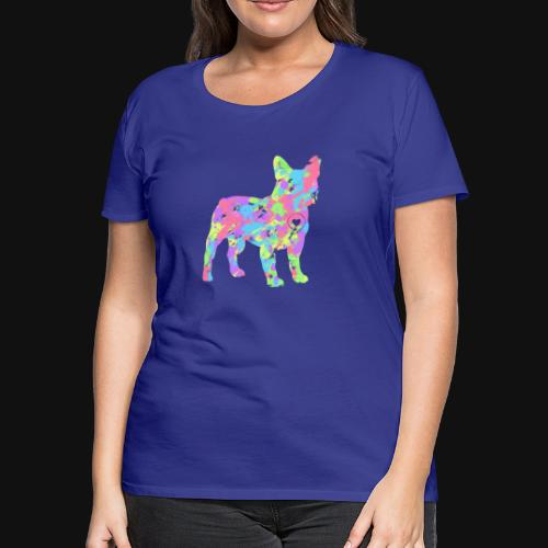 Frenchie love splatter - Women's Premium T-Shirt