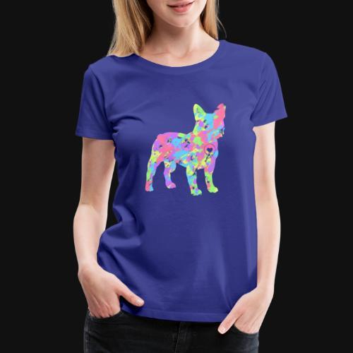 Frenchie love splatter - Women's Premium T-Shirt