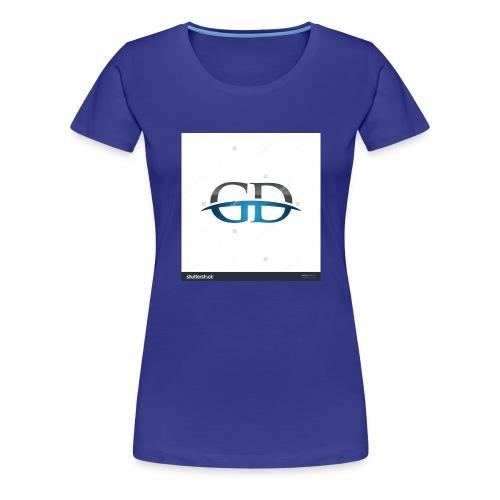 stock vector gd initial company blue swoosh logo 3 - Women's Premium T-Shirt