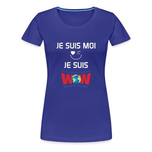 JeSuisMoijeSuisWowLogoWhi - Women's Premium T-Shirt