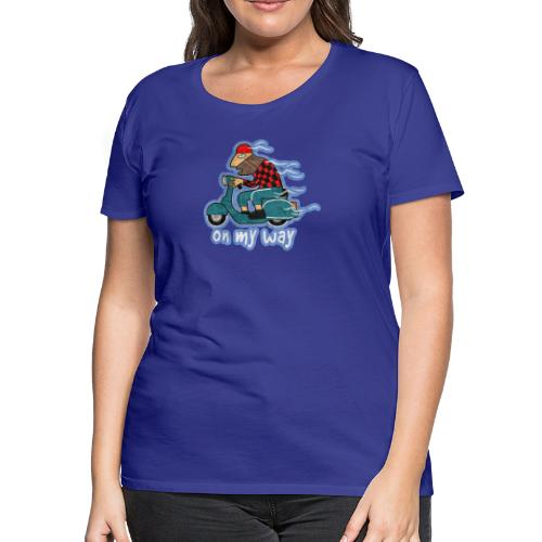 On my way. - Women's Premium T-Shirt