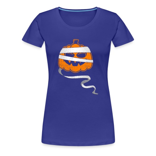 Halloween Bandaged Pumpkin - Women's Premium T-Shirt