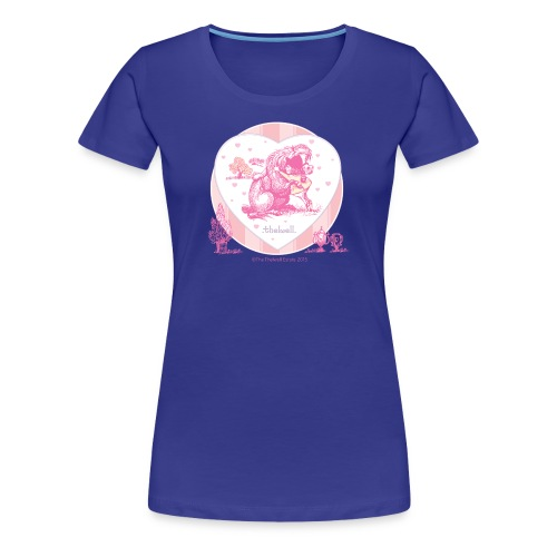 PonyHugging Thelwell Cartoon - Women's Premium T-Shirt
