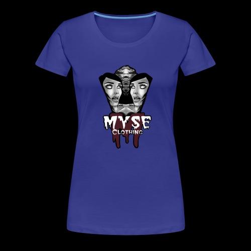 Myse clothing logo with vampire - Women's Premium T-Shirt