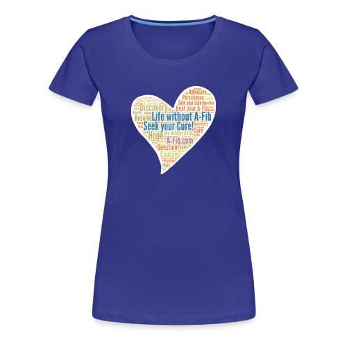 flirty heart Life without AFIB gif - Women's Premium T-Shirt