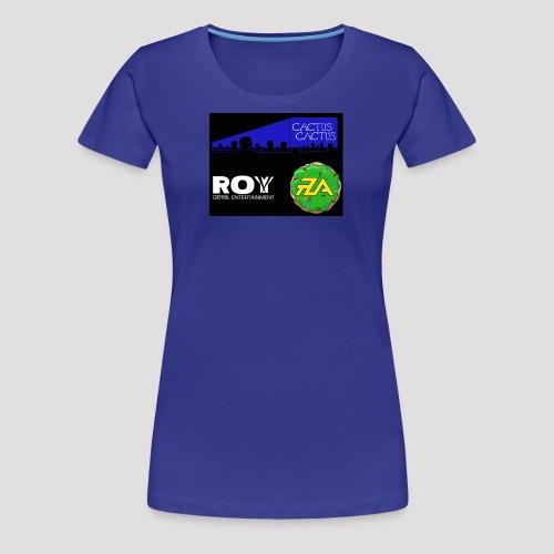 A_Cactus_DarkBlue - Women's Premium T-Shirt