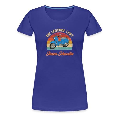 Simson Schwalbe Vespa - Women's Premium T-Shirt