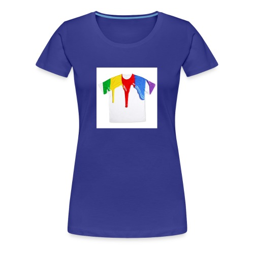 tshirt printing for kids paint design 100683 - Women's Premium T-Shirt