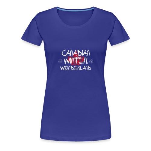 Canadian Winter Wonderland - Women's Premium T-Shirt