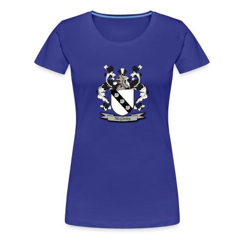 McGinley Family Crest - Women's Premium T-Shirt