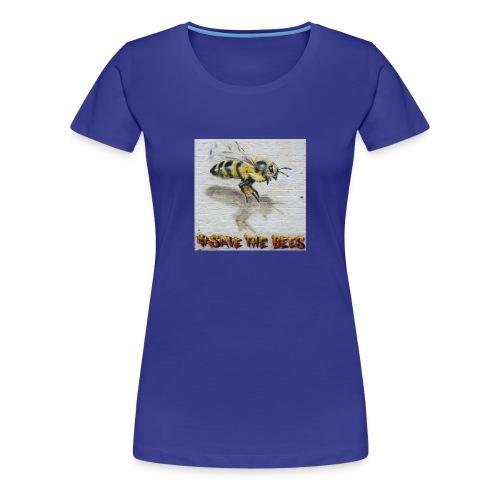 Hashtag #savethebees - Women's Premium T-Shirt