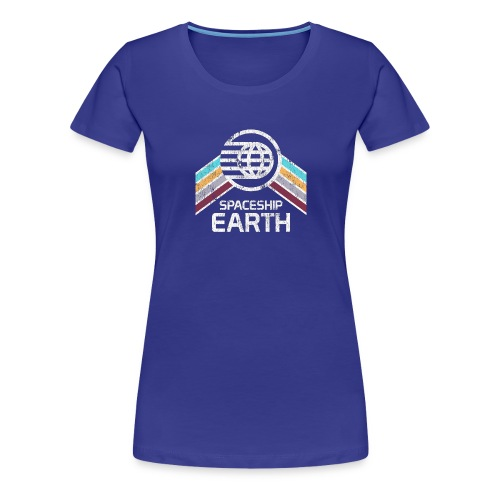 Earth with Distressed Logo - Women's Premium T-Shirt