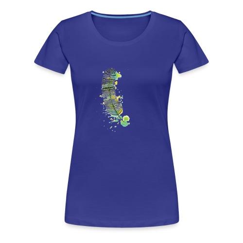 Geometric Feather - Women's Premium T-Shirt