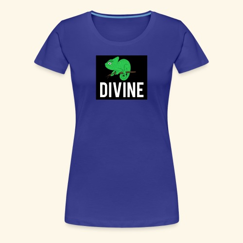 DIVINE - LIZARD DIVINE LETTERING - Women's Premium T-Shirt