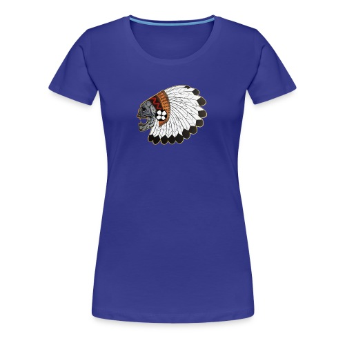 Indianskullwithheaddress - Women's Premium T-Shirt