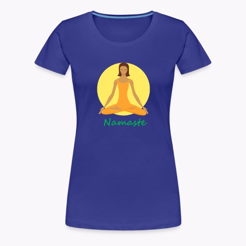 yoga namaste chanting - Women's Premium T-Shirt