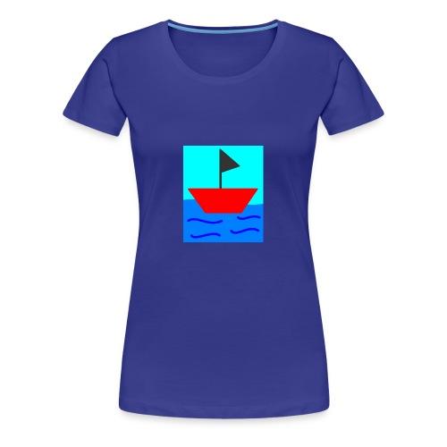 MS Paint Boat - Women's Premium T-Shirt