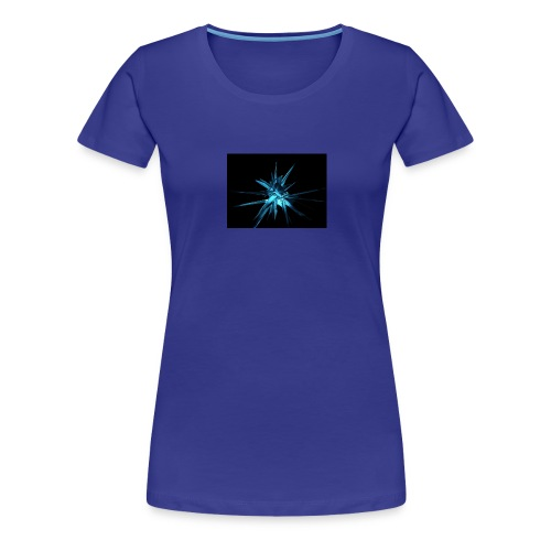 Neon blue design - Women's Premium T-Shirt