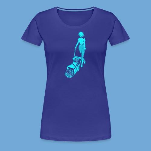 Roto-Hoe Cyan. - Women's Premium T-Shirt