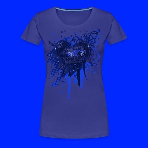 Vintage Cannonball Bingo Drip Blue - Women's Premium T-Shirt
