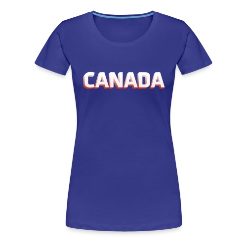 Simple Canada Text - Women's Premium T-Shirt