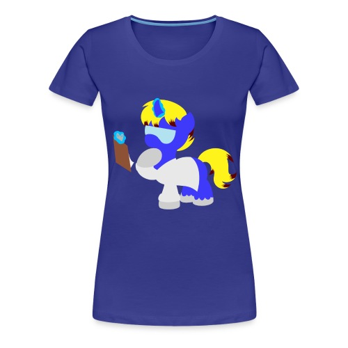 Science Pony Silhouette - Women's Premium T-Shirt