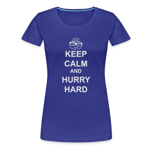 CurlingGeek white print - Women's Premium T-Shirt