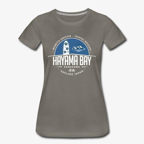 Hayama Bay Blue Scape - Women's Premium T-Shirt