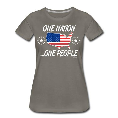 One Nation One People 2012 FRONT TRANSPARENT BACKG - Women's Premium T-Shirt